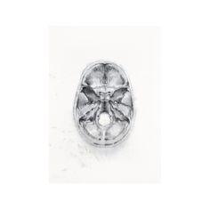 Skull_Black ink on linen