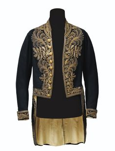 First Empire French Mens Leather Coats, Gold Blazer, Military Looks, Court Dresses, Medieval Fashion, Gold Embroidery, Embroidered Jacket, Historical Clothing, Military Fashion