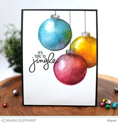 mama elephant | design blog: INTRODUCING: Jingle Greetings | time to jingle by Kryssi