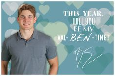 This year, will you be my Val-Ben-tine?  -Ben Smith #BlackhawksValentines