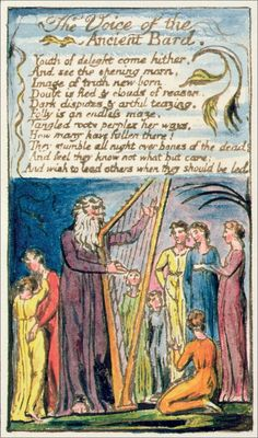 Voice of the Ancient Bard - William Blake (circa 1790)