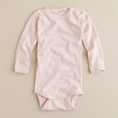 babies' nature baby cotton onesie in pink stripe