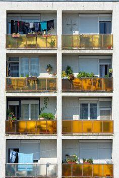 Nieuw in mijn Werk aan de Muur shop: Appartement balkon