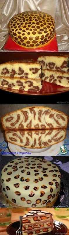 Леопардовый кекс - вот так идейка...   Выпечка   Постила
