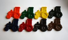 Farm Tractor Crayons  Set of 8  Great for a by extramoneyformommy, $6.00