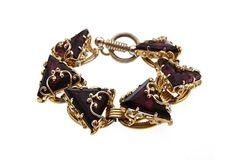 Triangle Faux-Amethyst Bracelet on OneKingsLane.com