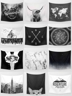 Society6 Black & White Tapestries - Society6 is home to hundreds of thousands of artists from around the globe, uploading and selling their original works as 30+ premium consumer goods from Art Prints to Throw Blankets. They create, we produce and fulfill, and every purchase pays an artist.
