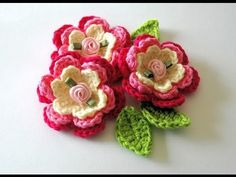 Flores grandes de ganchillo. Big crochet flowers. Gali Craft.