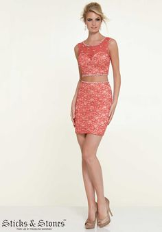 Homecoming / Party/ Cocktail / Dresses Style 9305: Two Piece Lace with Beading http://www.morilee.com/homecoming/sticksandstones/9305