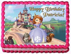 Sofia the First 1/4 Sheet Edible Photo Birthday Cake Topper. ~ Personalized!