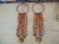 Very long earrings Long bohemian earrings by HamelinsSecretGarden, $20.00