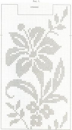 54 new ideas for crochet bag pattern chart cross stitch Crochet Puff Flower, Crochet Flower Patterns, Knitting Patterns, Cross Stitch Flowers, Cross Stitch Patterns, Filet Crochet Charts, Diy Crafts Crochet, Fillet Crochet, Crochet Bookmarks