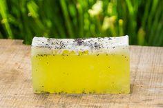 Lemon Poppyseed Soap Bar, Handmade Soap, Homemade Soaps, Beauty Bar, Glycerine Soap, Body Soap