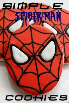 Easy Spiderman Cookies