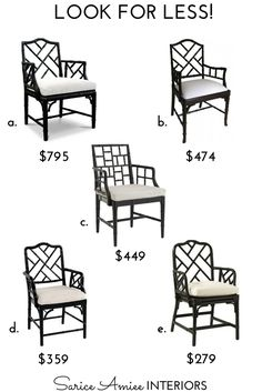 Look For Less! Vol. III - Chinese Chippendale Chair — Sarice Amiee Interiors