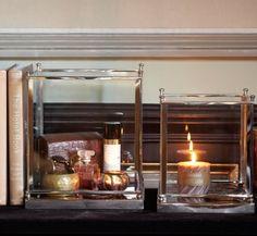 Windlicht Ascot Vierkant L - Sfeerlichten & Windlichten - Riverdale - Woonaccessoires - De Gouden Engel