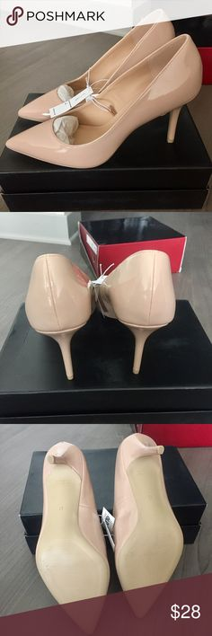 """Nude Pointed Toe Heels New with Tags.US Size 10. Heel Height: 3.5"""" Old Navy Shoes Heels"""
