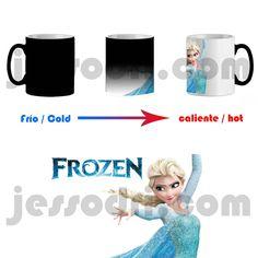 Taza mágica magica magic mug frozen elsa pelicula infantil el reino de hielo 325