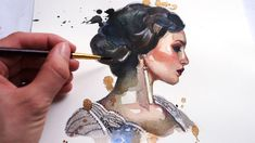 BEGINNER WATERCOLOR TUTORIAL: How To Paint A Portrait With Watercolors A...