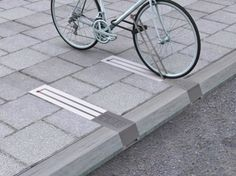Bike racks that don't take up sidewalk space.