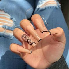 In search for some nail designs and some ideas for your nails? Here's our list of must-try coffin acrylic nails for cool women. Aycrlic Nails, Swag Nails, Hair And Nails, Coffin Nails, Summer Acrylic Nails, Best Acrylic Nails, Black Acrylic Nails, Spring Nails, Stylish Nails