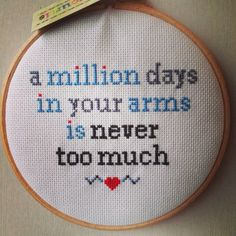 There Is An Etsy Artist Who Cross Stitches Pop Lyrics And They Are So Perfect