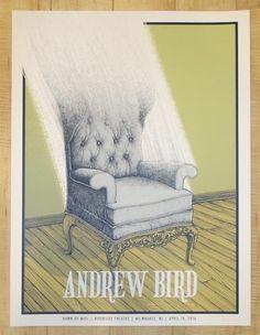 2016 Andrew Bird - Milwaukee Silkscreen Concert Poster by Justin Santora
