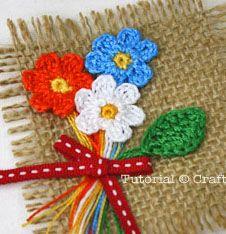 crochet-flower-bouquet - using perle cotton thread