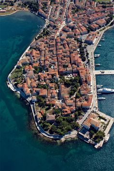 Ancient town of Porec, Istria.