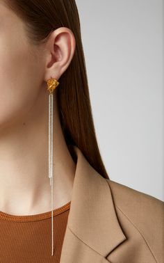 """Shop The Streaming Tears Single Earring. From Alighieri's fifth birthday collection, """"No More Tears"""" is a treasure trove of armour with little emblems of protection. Bohemian Jewelry, Jewelry Art, Jewelry Design, Women Jewelry, Jewlery, Jewelry Necklaces, Bracelets, Hanging Earrings, Big Earrings"""