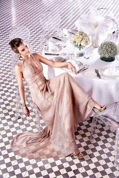 Pudra Işıltılı Elbise