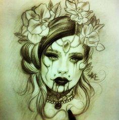 Tattoo idea. Dark and beautiful.