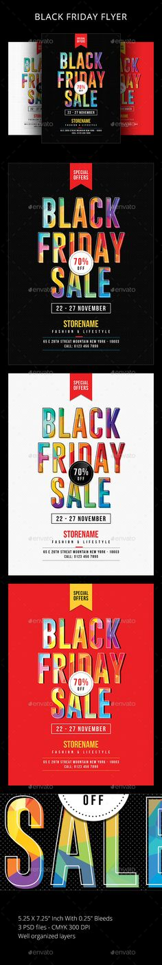 Buy Black Friday by sunilpatilin on GraphicRiver. Black Friday Flyer Black Friday Flyer is designed for all kind of events! The flyer is fully layered and organized to. Text Tool, Typography Design Layout, Event Flyer Templates, Sale Flyer, Christmas Sale, Black Friday, Print Design, Promotion, November