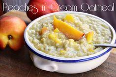 Peaches n' Cream Oatmeal! Vegan, healthy and super delicious!