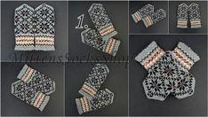 Hand Knit Gray White Wool Mittens Hand Knit Gray White Wool   Etsy Mittens Pattern, Knit Mittens, Knitting Socks, Hand Knitting, Wool Gloves, Mens Gloves, Knitted Gloves, Christmas Knitting, Hand Warmers