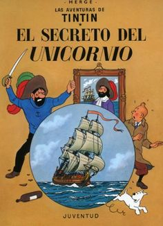 The Secret of the Unicorn by Herge. Hunting for a treasure map brings Tintin and Captain Haddock into contact with an amusing variety of people and places. Finished Mar have read several times. Tintin Au Tibet, Tintin Au Congo, I Love Books, My Books, Album Tintin, Captain Haddock, Herge Tintin, Unicorn Books, Nostalgia