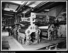 Sun Herald Newspaper Press Room, Sydney, 1930 [picture].