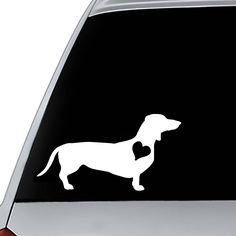 Car Decal Dachshund | Dog Decal | Dog Sticker | Phone Decal Dog | Decal for Laptop | Mug Decal | Journal Decal | Gift for Dachshund Lover