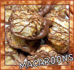 Hugs & CookiesXOXO: CHOCOLATE DIPPED MACAROONS
