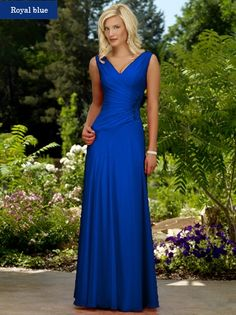 modest v-neck bridesmaid dress | Make Your Own Party Gown For A Wedding Straps V Neck Cascading Ruffle ...