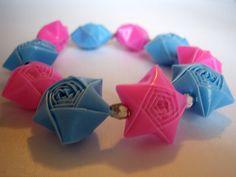 Rainbow Origami Straw Stars, via Flickr.