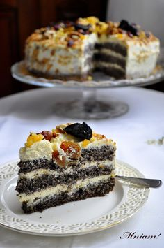 Poppy Seed Cake, Food Art, Feta, Toffee, Sweet Tooth, Cheesecake, Food And Drink, Cooking Recipes, Yummy Food
