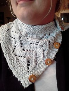 Project Gallery for Continental Chunky Lace Cowl pattern by Jessica Dekker  - free pattern - bulky weight