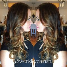 Balayage ombre, long hair, haircolor