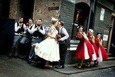 Rockabilly wedding on We Heart It