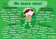 Encourage your students to use words other than nice in their writing.