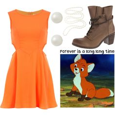 Tod From Fox and The Hound by aprilmarvin on Polyvore featuring polyvore, fashion, style, Dorothy Perkins, Steve Madden, A B Davis, contest, disney, fox, hound and foxandthehound