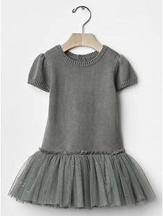 Sparkle mix-fabric tutu dress | Gap