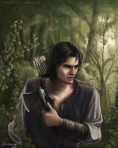 The Huntsman by SvenjaLiv on deviantART, Snow White D D Characters, Fantasy Characters, High Fantasy, Fantasy Art, Writing Inspiration, Character Inspiration, Dark Thoughts, Fairytale Art, Handsome Prince