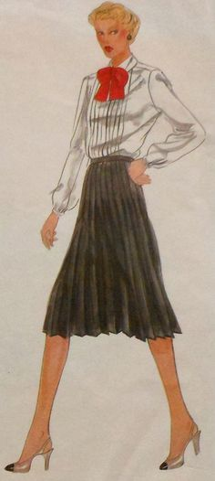 Retro Pleated Skirt Sewing Pattern